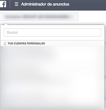 administrador cuentas facebook ads