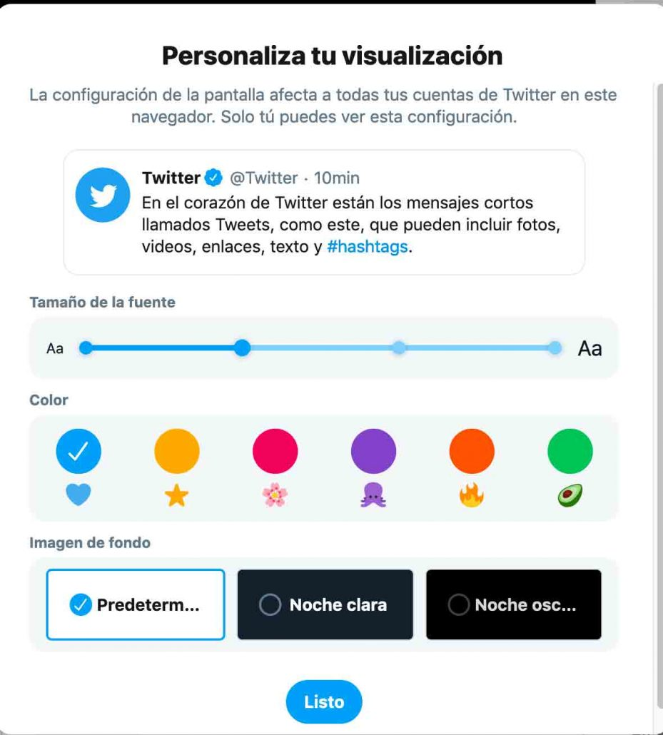 Personalización de Twitter