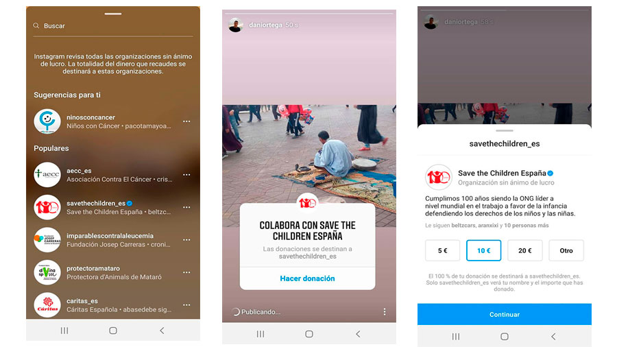 Utilizar el Sticker de Donaciones en las Stories de Instagram