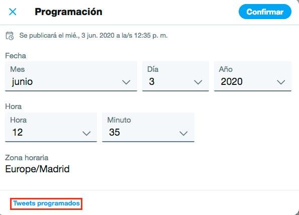 cómo programar Tweets en Twitter